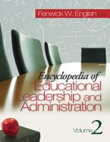 Encyclopedia of Educational Leadership and Administration PDF