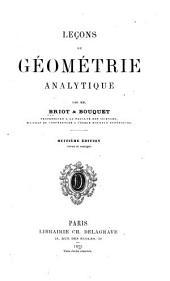 Leçons de geómétrie analytique