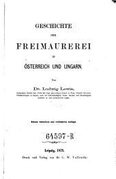 Geschichte der Freimaurerei in Österreich und Ungarn