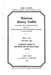 American History Leaflets: Colonial and Constitutional, Issue 13