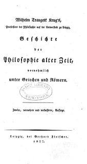 Geschichte der Philosophie alter zeit: vornehmlich unter Griechen und Romern