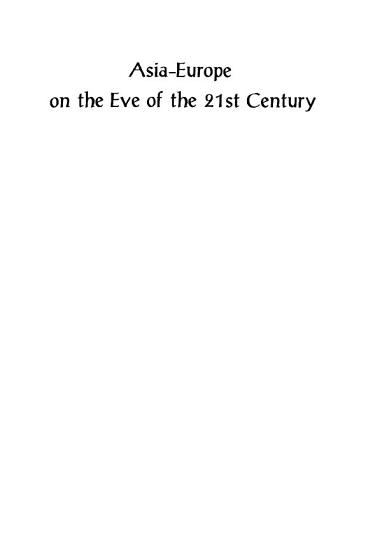 Asia Europe on the Eve of the 21st Century PDF