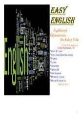 BASİT İNGİLİZCE: - İngilizceyi Öğrenmenin En Kolay Yolu