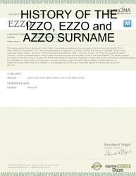 History Of The Izzo Ezzo And Azzo Surname Book PDF