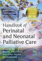 Handbook of Perinatal and Neonatal Palliative Care PDF