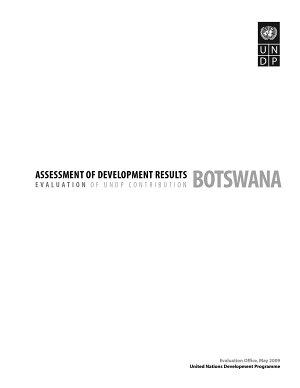Assessment of Development Results   Botswana PDF