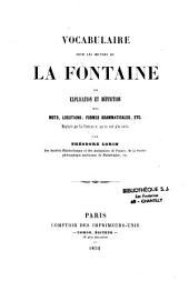 Vocabulaire chez La Fontaine
