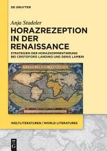 Horazrezeption in der Renaissance PDF