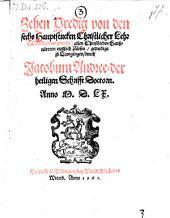 Zehen Predig von den sechs Hauptstücken Christlicher Lehr (etc.)