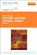 Geriatric Physical Therapy Pageburst on VitalSource Access Code