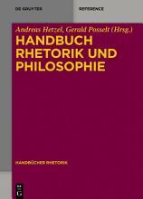 Handbuch Rhetorik und Philosophie PDF