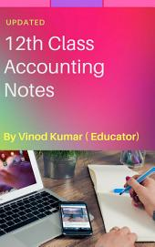 Class 12 Accounting Notes