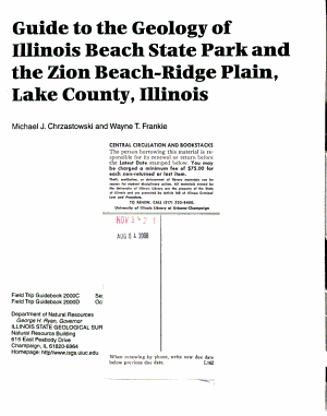 Guide to the Geology of Illinois Beach State Park and the Zion Beach Ridge Plain  Lake County  Illinois