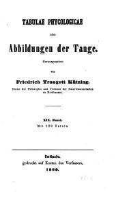 Tabulae phycologicae; oder, Abbildungen der tange: Band 19