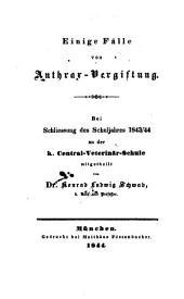 Einige Fälle der Anthrax-Vergiftung