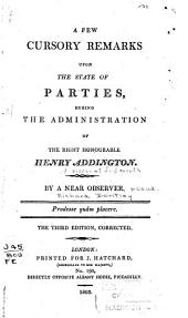 Fitz-Albion's Letters to the Right Hon. William Pitt, and the Right Hon. Henry Addington, on the Subject of the Ministerial Pamphlet Entitled Cursory Remarks &c
