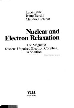 Nuclear and Electron Relaxation PDF