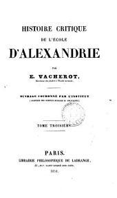 Histoire critique de l'école d'Alexandrie
