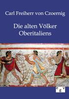 Die alten V  lker Oberitaliens PDF