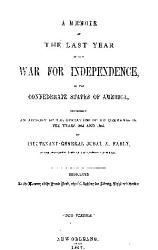 A Memoir Of The Last Year Of The War For Independence Book PDF