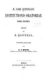 Institutionis oratoriae liber decimus: Volume 1