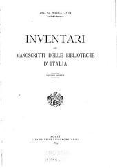 Inventari dei manoscritti delle biblioteche d'Italia: Ravenna, Biblioteca classense [cont.]: Volumi 5-6