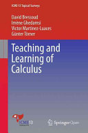 Teaching and Learning of Calculus PDF