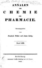 Justus Liebig's Annalen der Chemie: Bände 63-64