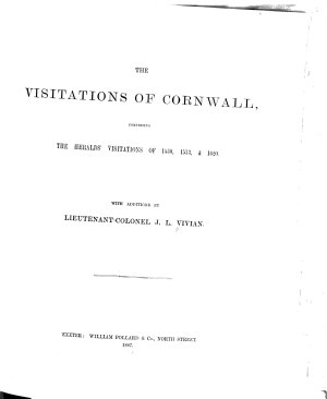 The Visitations of Cornwall PDF