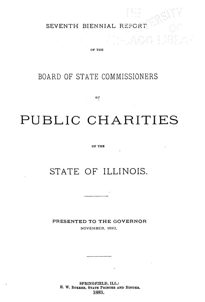 Reports to the General Assembly of Illinois ...