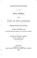 Annotations on the four Gospels  and the Acts of the Apostles   by H  Elsley   PDF