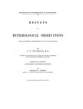 Results of Meteorological Observations Made at Marietta, Ohio, Between 1826 and 1859, Inclusive