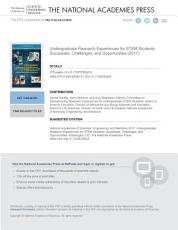 Undergraduate Research Experiences for STEM Students PDF
