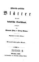 Historisch politische Bl  tter f  r das katholische Deutschland   herausgegeben von G  Phillips und G  G  rres PDF