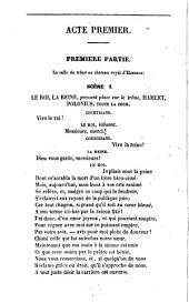 Hamlet, prince de Danemark: (Shakspeare's Hamlet Prince of Denmark) drame en cinq actes et huit parties, en vers