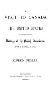 A Visit to Canada and the United States PDF