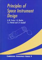 Principles of Space Instrument Design PDF