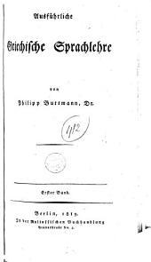 Ausführliche Griechische Sprachlehre: Band 2