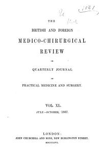 British and Foreign Medico chirurgical Review PDF