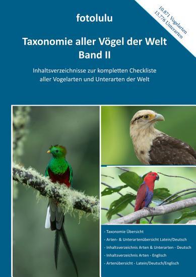 Taxonomie aller V  gel der Welt   Band II PDF