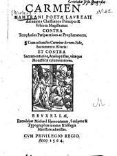 Carmen ... contra Templarios Peripateticos ac Prophanatores0