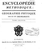 Encyclopédie méthodique: Géographie-physique, Volume2,Partie1