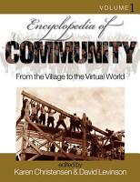 Encyclopedia of Community PDF