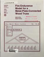 Fire Endurance Model for a Metal-plate-connected Wood Truss