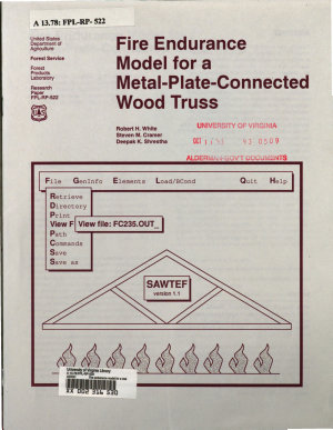 Fire Endurance Model for a Metal plate connected Wood Truss