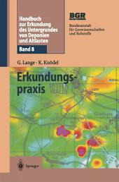 Handbuch zur Erkundung des Untergrundes von Deponien und Altlasten: Band 8: Erkundungspraxis