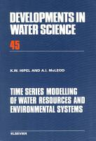 Time Series Modelling of Water Resources and Environmental Systems PDF
