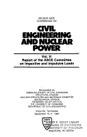 Second ASCE Conference on Civil Engineering and Nuclear Power  Knoxville  Tennessee  September 15 17  1980  Report of the ASCE Committee on Impactive and Impulsive Loads PDF