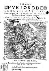 Orlando furioso de Lodouico Ariosto nueuamente traduzido en prosa Castellana por Diego Vazquez de Contreras