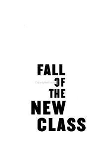 Fall of the New Class Book